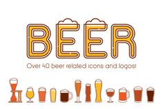 Beers, glasses and logos vol.2 by Side Project on Creative Market