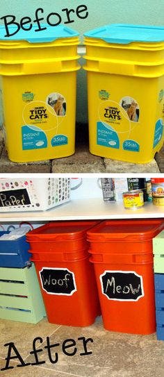Turn An Old Litter Container Into Food Storage! // #brilliant