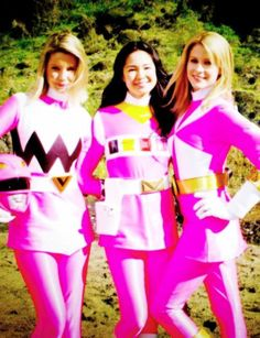 The pink rangers from legendary battle Saban's Power Rangers, Power Rangers In Space, Power Rangers Megaforce, The Scottish Play, Go Busters, Japanese Superheroes, Girl Power, Cosplay, Female