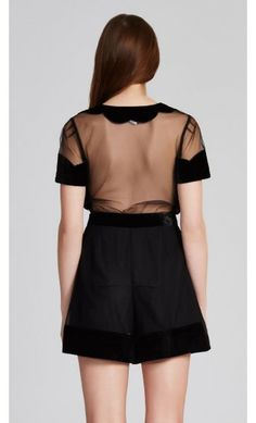 alice McCALL Time Goes By Playsuit Black