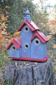 SALE Community Church Birdhouse Condo Ready by BirdhousesByMichele