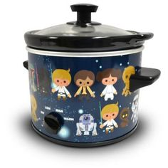 The galaxy is your oyster when you cook with this handy, pot. Full-color art featuring adorable versions of all your favorite characters makes this a must-have for any Star Wars fan. The size makes it versatile for a dorm room, man cave, or a Slow Cooker Kitchen, Crock Pot Slow Cooker, Specialty Appliances, Kitchen Appliances, Star Wars Kitchen, Chafing Dishes, Slow Cooked Meals, Star Wars Collection, Dog Toys