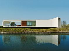 casa em forma futurista