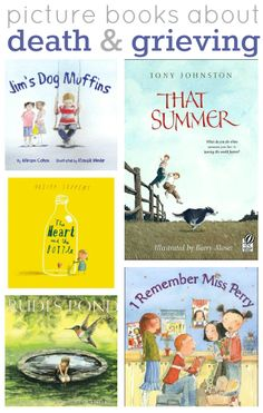 Books about death for kids. {This is an old post with great books to gently talk with young kids about death. There are added title suggestions in the comments. Grief Counseling, Child Life Specialist, School Social Work, School Psychology, School Counselor, Children's Literature, Book Activities, Preschool Books, Sequencing Activities