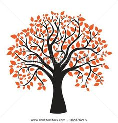 stock vector : autumn tree for your design, vector image http://www.shutterstock.com/pic-102376216/stock-vector-autumn-tree-for-your-design-vector-image.html