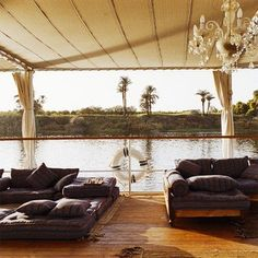 waterfront sitting area