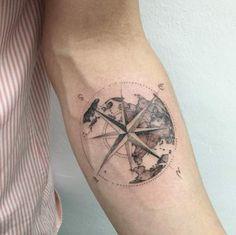 Nautical Globe Compass Tattoo tatuajes | Spanish tatuajes |tatuajes para mujeres | tatuajes para hombres | diseños de tatuajes http://amzn.to/28PQlav