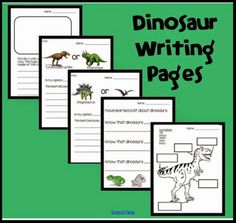 Studying dinosaurs? Here are some free dinosaur writing pages for primary grades. These worksheet printables include a diagram, opinion writing pages and a place to write dinosaur facts.