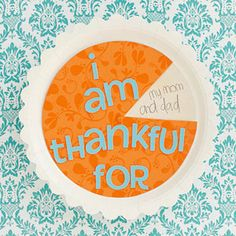 Cute Crafts to Give Thanks: Pumpkin Pie Spinner. Pumpkin Pie Spinner  This pumpkin pie may look good enough to eat, but it's actually an interactive spinner that reveals things your child is thankful for. #Thanksgiving #Thankful #Kids #Decoration