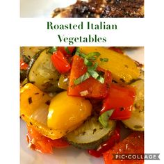 Roasted Italian Vegetables, Dinner Is Served, Italian Seasoning, Yummy Eats, Starters, Family Meals, Italian Recipes, Side Dishes, Grilling