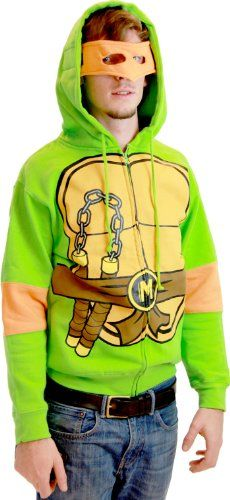 b8b9d1c739b Teenage Mutant Ninja Turtles Costume Adult Hooded Sweatshirt with Detachable  Eye Mask