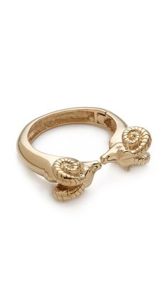 Tory Burch Ram Head Hinge Bracelet. All the stuff I have been liking lately are sold out. What does that say about me? :)