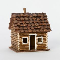 Pinecone Log Cabin