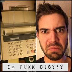Is it sad or normal that the one piece of technology that confuses Charles is a fax machine?! Anyone else? Lol