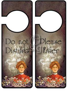 Door Hanger Signs No 1, Digital File