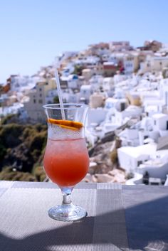 Cocktails in Oia, Santorini, Greece
