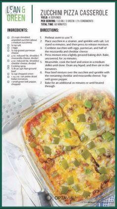 Medifast zucchini pizza casserole