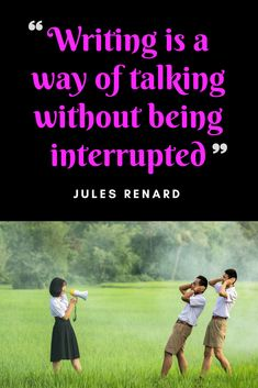 Writing is a way of talking without being interrupted Latest Books, Authors, Thriller, Quotations, Psychology, Novels, Writing, Quotes, Psicologia