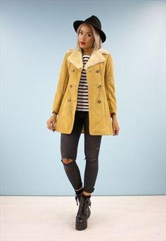 Vintage Sheepskin Suede Winter Coat 2810JDA1
