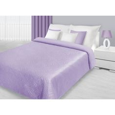 Moderné fialové prehozy na dvojlôžko s prešívaným motívom Bed, Furniture, Home Decor, Decoration Home, Stream Bed, Room Decor, Home Furnishings, Beds, Home Interior Design