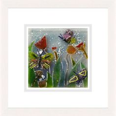 'Summer Blooms ll' by Natasha McCullough. This piece has been hand crafted, fused & framed by Spires Art in Omagh. Available in size X Glass Art, Bloom, Range, Create, Artist, Summer, Painting, Design, Cookers