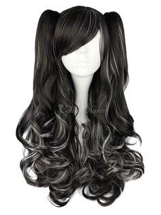 Long Curly Dandy Multi Color Rayon Lolita Wig - Lolitashow.com