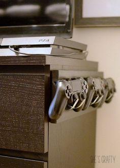 Video Game Controller holder - - Ideas of - Video Ga. Video Game Controller holder – – Ideas of – Video Game Controller Game Controller, Deco Gamer, Video Game Rooms, Video Games, Video Game Bedroom, Video Game Decor, Gaming Room Setup, Gaming Desk, Gaming Cabinet