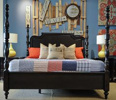 Glen Cove Bed . Decorations are perfect for a Beach house or Beach Themed Rooms!