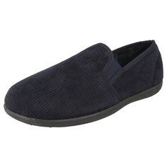 MENS TEXTILE NAVY FABRIC STYLE KING ROY CLARKS SLIPPERS