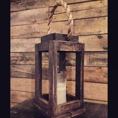 Sostenedor de vela de linterna de madera por SycamoreStVintage