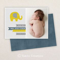 INSTANT DOWNLOAD Birth Announcement Template  by Tambocreations,