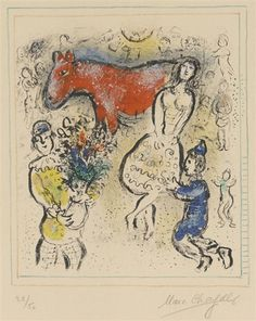 Marc Chagall, The Little Red Horse