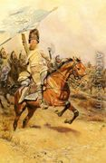 La Charge (The Charge) - Jean Baptiste Edouard Detaille reproductions