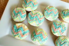 Chevron Cupcakes for Jessica's baby shower!
