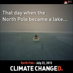 Instead of snow and ice whirling on the wind, a foot-deep aquamarine lake now sloshes around a webcam stationed at the North Pole. The meltwater lake started forming July 13, following two weeks of warm weather in the high Arctic.  READ READ READ http://www.livescience.com/38347-north-pole-ice-melt-lake.html  http://act.forecastthefacts.org/signup/obama_climate_action/?source=fbNorthPoleLake