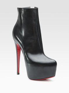 christian louboutin grey platform ankle boots