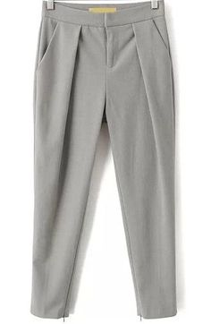 To find out about the Grey Pockets Crop Pant at SHEIN, part of our latest Pants ready to shop online today! SheIn offers Grey Slim Pockets Pant & more to fit your fashionable needs.Discover the latest women's fashion pants. Shop ladies pants and be i Slim Fit Trousers, Trouser Pants, Cropped Pants, Grey Trousers, Gray Pants, Paris Mode, Pantalon Slim, Pleated Pants, Pants Pattern