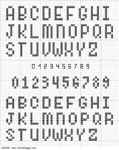 Cross Stitch Happy: Alphabet Chart