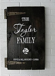 I love this!  For our entry way! Now to go find an old cupboard door or shutter...