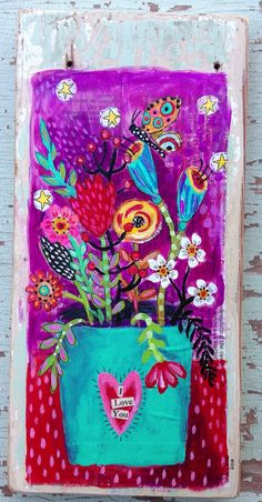 Floral Mixed Media Mother's Day Gift by evesjulia12 on Etsy