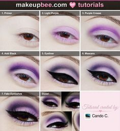 Step-By-Step Tutorial for Purple Pin Up