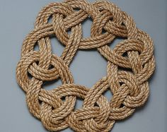 Rope Wreath  Kringle Knot  Nautical Decor  Small Rope by OYKNOT