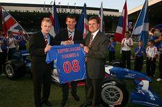Rangers unveil their Superleague Formula Car in 2008.