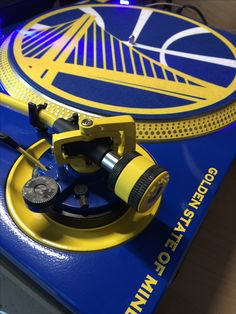 This IsDJ Technics Edition Golden State Warriors Recording Studio Home, Home Studio Music, Technics Turntables, 1200 Custom, Dj Gear, Dj Booth, Dj Equipment, The Dj, Golden State Warriors