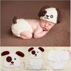 Crochet Baby Hats Newborn Baby Boys Crochet Knit Costume Puppy Dog Hat Photogr... Check more at http://www.newbornbabystuff.com/crochet-baby-hats-newborn-baby-boys-crochet-knit-costume-puppy-dog-hat-photogr/