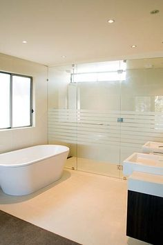 Frosted glass shower screen