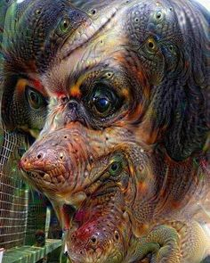 I deep dreamed myself and now I'm scared to look into mirrors.  #DeepDream #NoFilter #Selfie #Terrifying #Scarry #Creepy #ItsGoingToGetYou by cyanraine