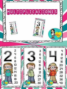 Number Writing Practice, Writing Numbers, School Template, Islam For Kids, Math For Kids, Numeracy, Second Grade, Kids Learning, Professor