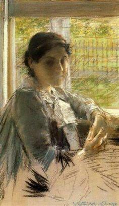 At the Window, William Merritt Chase. (1849-1916)