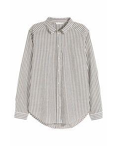 H&M | Black Cotton Shirt | Lyst